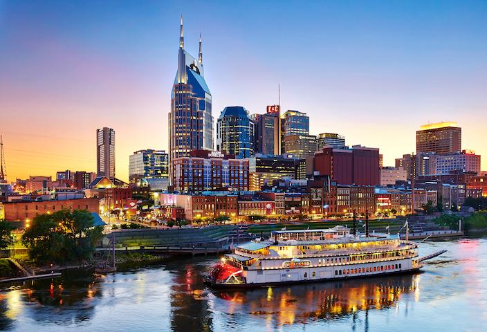 General Jackson Showboat in Nashville at Night
